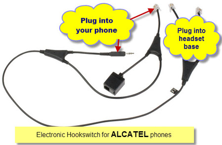 Alcatel 14201-09 EHS Jabra Link Cable