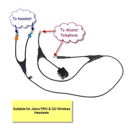 Alcatel 14201-36 Jabra Link EHS Cable