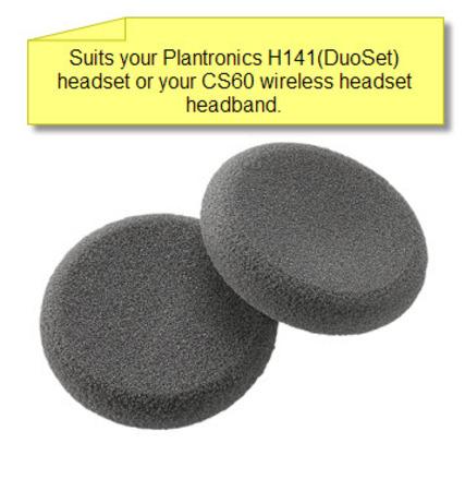 Plantronics 43937-01 Foam Ear Cushion for CS60