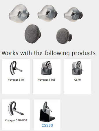 Voyager 510, CS70N and CS530 Ear Tips