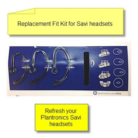 Plantronics 84604-01 Savi Headset Replacement Fit Kit