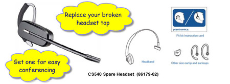 Plantronics CS540 Replacement Headset