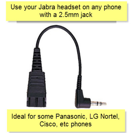 Jabra QD to 2.5mm Cable