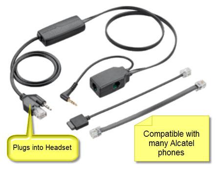 Alcatel APA-23 Plantronics EHS Cable for Plantronics