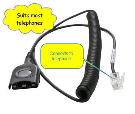 Sennheiser CSTD01 headset cord