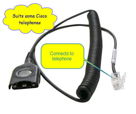 Sennheiser CSTD08 headset cord