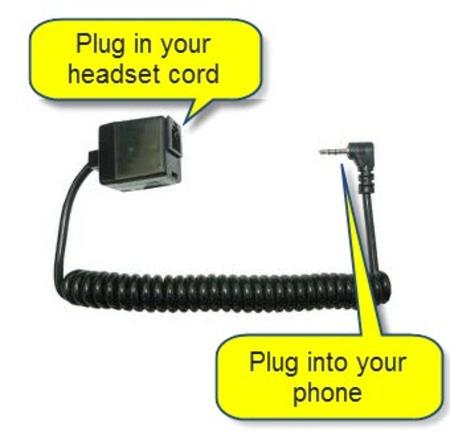 RJ to 2.5mm Headset Adaptor