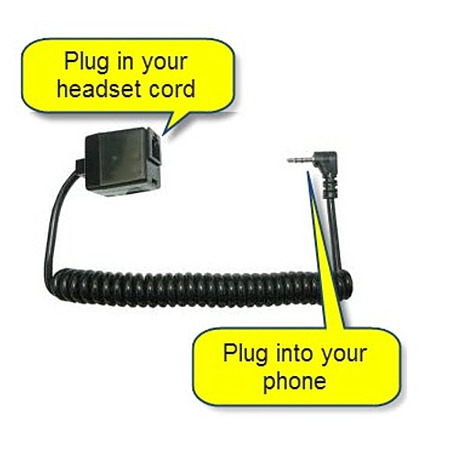 RJ to 3.5 Headset Adaptor