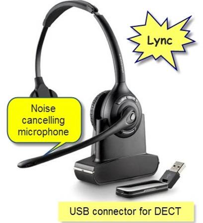 Plantronics Savi 410-M Wireless Headset for Lync