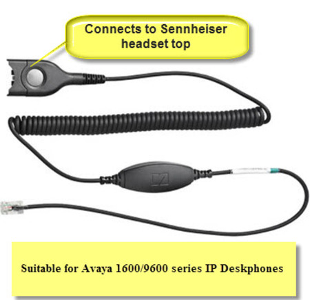 Sennheiser CAVA 31 Cable for Avaya and Yealink