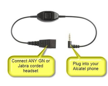 Jabra 3.5mm Alcatel Cable