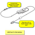 Plantronics SHS2355-01 PTT Corded Interface