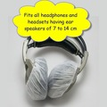 1000 Large Disposable White Headphone Covers