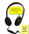 100 Small Disposable Black Headset Covers